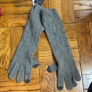 NWT Ralph Lauren gray touch compatible gloves